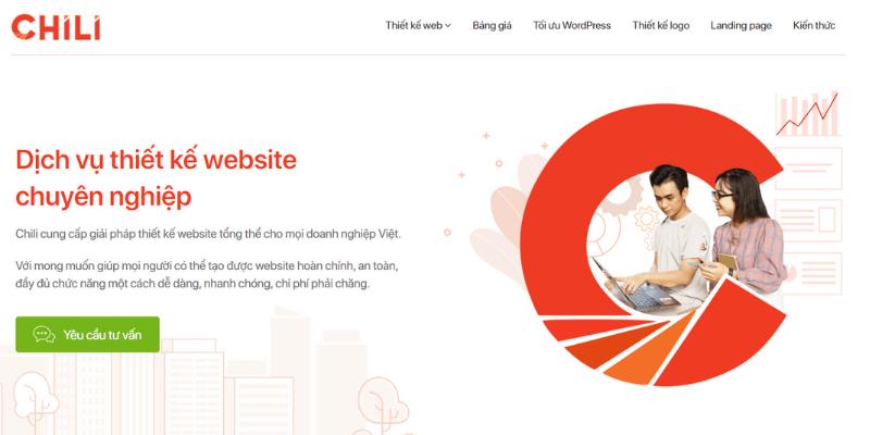 công ty thiết kế website chili