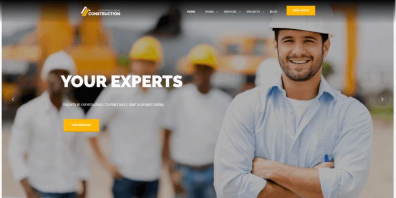 website công trình xây dựng